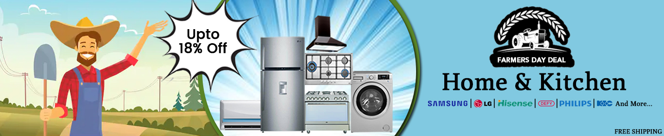 Home Appliances Farmer Day Web Slider