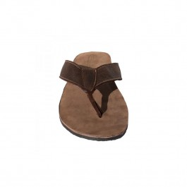 Mens Slops Brown Leather