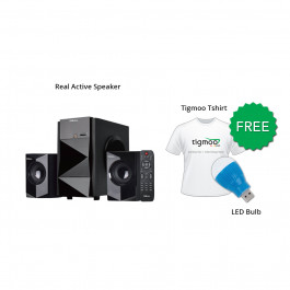Real AS21-050A Active Speaker With Free Tigmoo Tshirt & Led Bulb