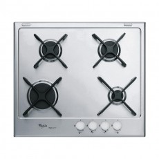 WHIRLPOOL 60CM 4-BURNER GAS HOB – S/STEEL (GMA 6414/IXL)