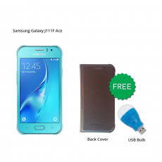 Samsung Galaxy J111F Ace (Blue) With Free Back Cover & Led Bulb