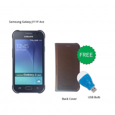 Samsung Galaxy J111F Ace (Black) With Free Back Cover & Led Bulb