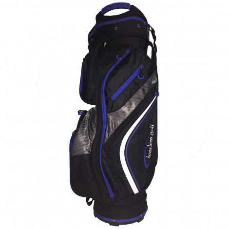 Fearless Golf Tour 14 Way Cart Bag (Black/Blue)