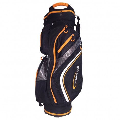 Fearless Golf Tour 14 Way Cart Bag (Black/Orange)