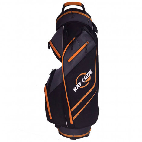 Ray Cook 14 Way Cart Bag – Black/Orange