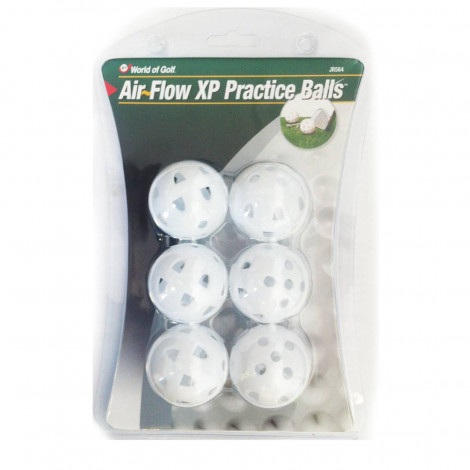 World Of Golf Air Flow XP Practice Balls White (JR564)