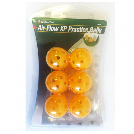 World Of Golf Air Flow XP Practice Balls Yellow (JR566)
