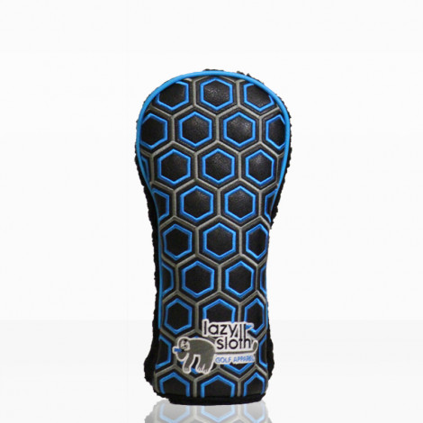 Lazy Sloth Blue Hexagon Fairway Wood Cover