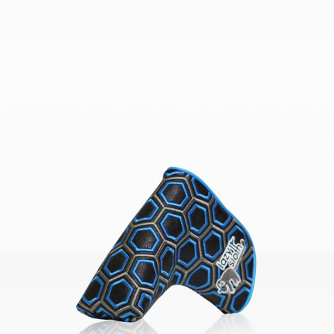 Lazy Sloth Blue Hexagon Putter Cover