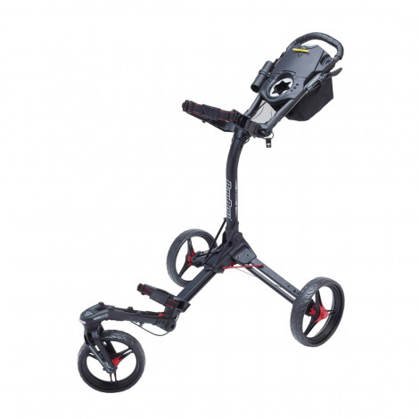 Bag Boy Triswivel 3 Wheeler Cart (Black/Red)