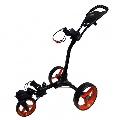 Bag Boy Triswivel 3 Wheeler Cart (Grey/Orange)