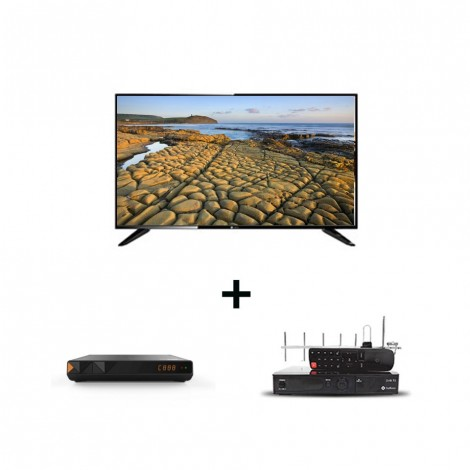 """TOPSTAR 43"""" Startimes Digital TV with Antenna, Full Kit(Dish,20m Cable,Smart card,LNB,F-Connector,Remote control, 3 Months free subscription & Installation."""