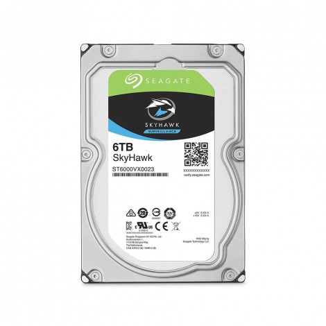 SEAGATE SkyHawk 6TB Surveillance Hard Drive - SATA 6Gb/s 64MB Cache 3.5-Inch Internal Drive (ST6000VX0023)