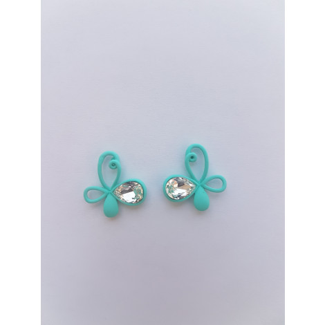 Light Green Flower Earrings