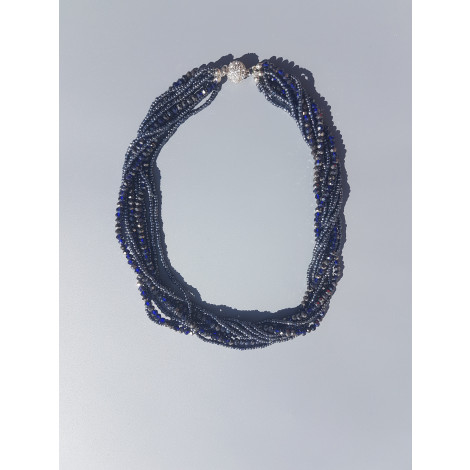 Seed Beads Tassel necklace (Grey)