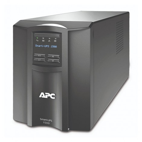 APC Smart-UPS 1500VA LCD 230V,Cold-start capable; Energy meter; Green mode; High online efficiency; Intuitive LCD Status Display; Predictive replace battery date,Single switched outlet group; SmartSlot.