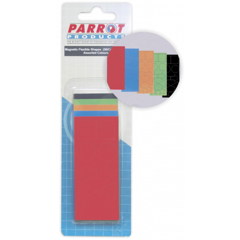Parrot Magnetic Flexible Shapes (15mm, 50 Pack, Assorted)
