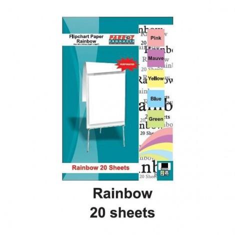 Parrot Flipchart Paper Rainbow 20 / 50 Sheets (860*610mm)