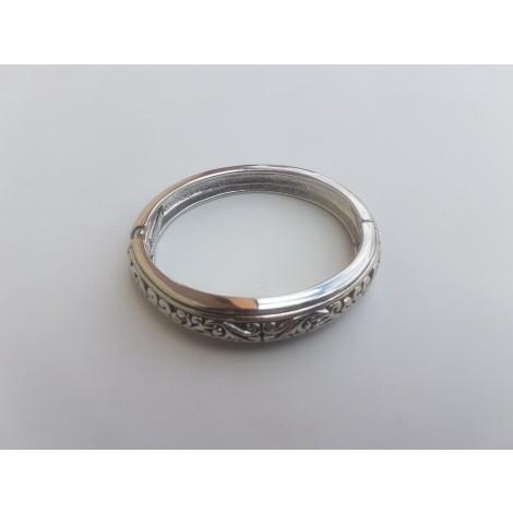 Antique Metal Bracelets (Silver)
