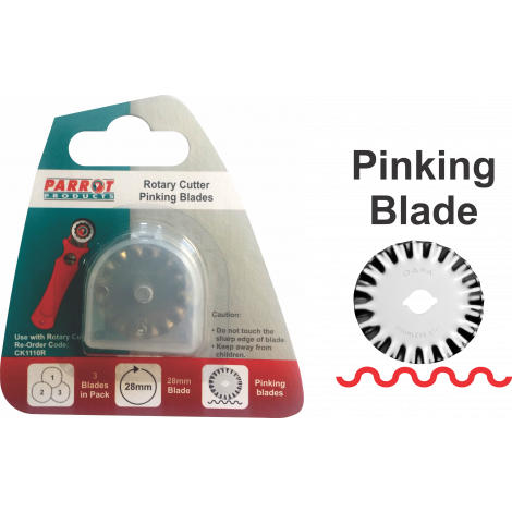 Craft Knife Rotary Blades 28mm Pinking