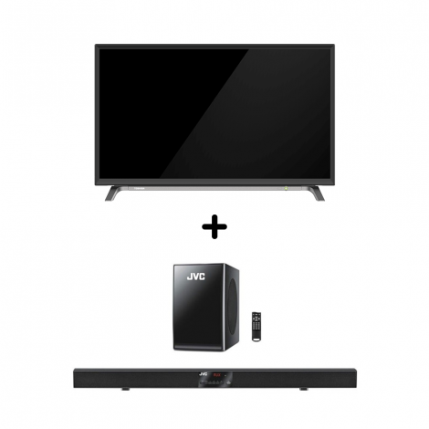 Combo Deal-Toshiba 43 Inches TV With JVC 2.1 BLUETOOTH SOUND BAR