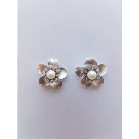 Flower Stud Fashion Earring (Silver)