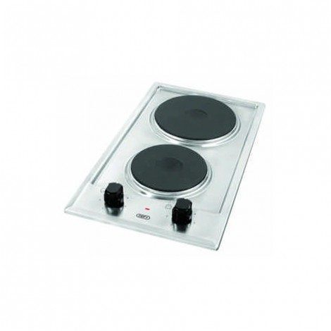 DEFY Domino Stainless Steel Solid Hob DHD 400 SOLID 2 PLATE