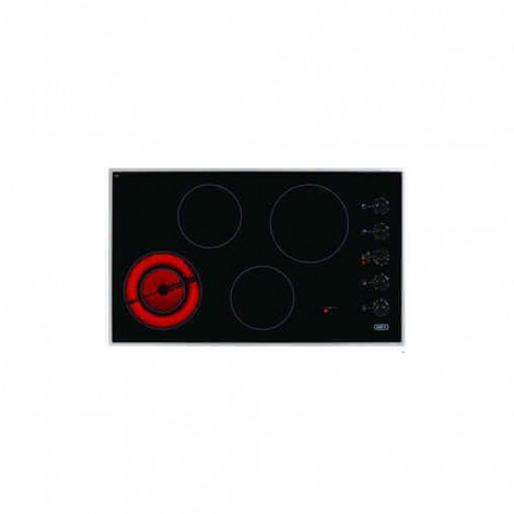 Defy Gemini Ceran Hob with Control Panel Stainless Steel Frame DHD391