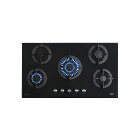 Defy DHG 131 5 Burner Gas Hob on Glass