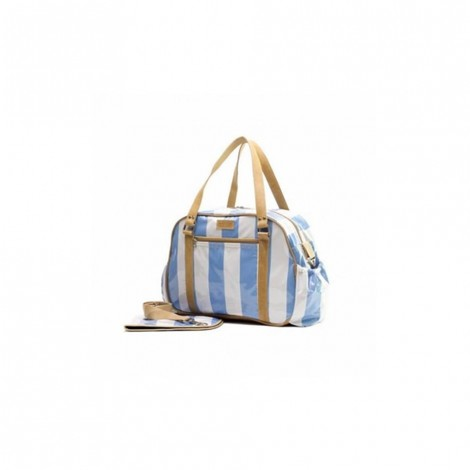 JOHN BUCK EMILY LOUISE STRIPE NAPPY BAG BLUE AND WHITE