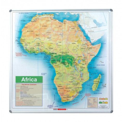Parrot Map Board - Africa (1230*1230mm, Magnetic White)