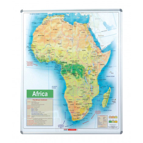 Parrot  Map Board - Africa (1230*930mm, Magnetic White)