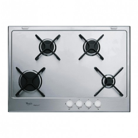 WHIRLPOOL BUILT-IN 75CM STAINLESS STEEL GAS HOB GMA 7414 IXL
