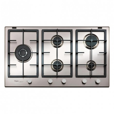 WHIRLPOOL 90CM 5-BURNER GAS HOB – S/STEEL (GMA 9522/IXL)