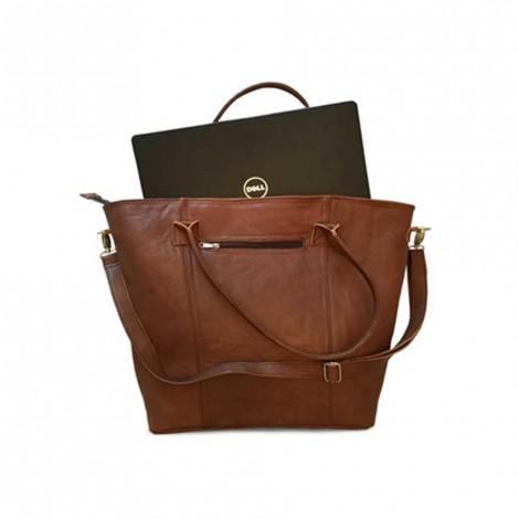 Mirelle Genuine Leather Extra Large Tote/Laptop Bag
