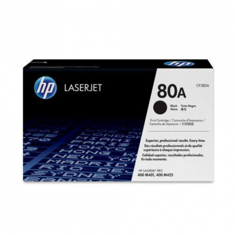 HP 80A BLACK TONER CARTRIDGE  FOR LASERJET PRO M400 SERIES