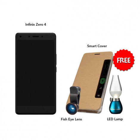 Infinix Zero 4 32 GB (Grey) With Free Fish Eye Lens, Smart Cover & Led Bulb