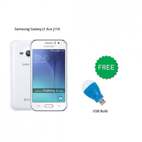 Samsung Galaxy J1 Ace j110 4 GB (White) With Free Led Bulb