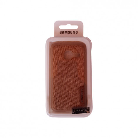 Samsung J1 Mini Jeans Back Case (Brown)