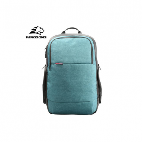 "KINGSONS 15.6"" Smart Nylon LAPTOP BACKPACK - Green KS3143W-GR"