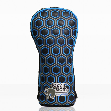 Lazy Sloth Blue Hexagon Driver Cover