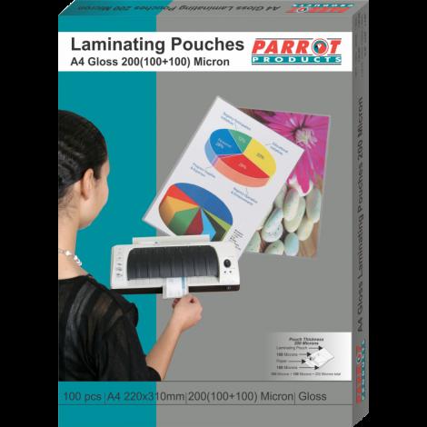Laminating Pouches (A4, Gloss, 220x310mm, 160 (80+80) Microns, Box 100)