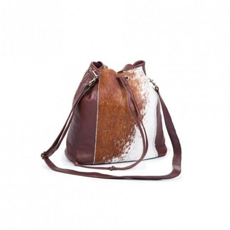 Mirelle Genuine Leather Drawstring Women Bag | Nguni