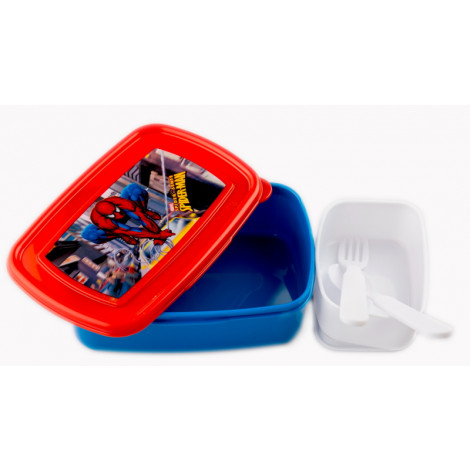 Amazing Spiderman rectangle lunch box with additional small box inside (750 ml)
