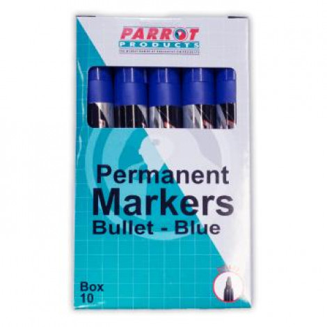 Parrot Permanent Markers Bullet Tip Box 10