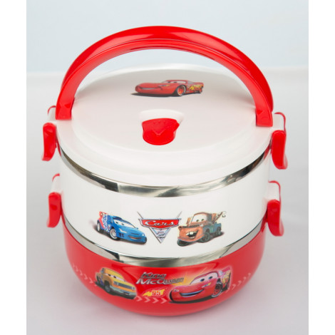 Lightning McQueen and Mater Two layered stainless steel insulated food warmer