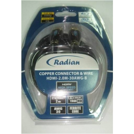 Radian Cable HDMI-1.5M-30AWG-P