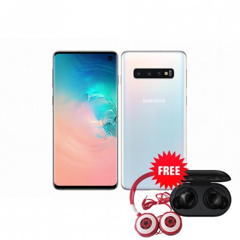 Samsung Galaxy S10 128 GB (Prism White) with Free Samsung Buds and Soccer Headphone Worth ZMW 1650