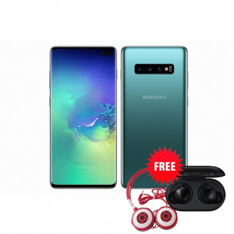 Samsung Galaxy S10 Plus 128GB(Prism Green) with Free Samsung Buds & Soccer Headphone Worth K1650