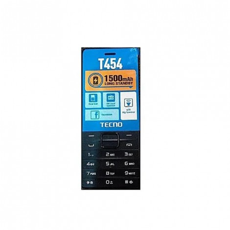 "Tecno T454, 2.8""qvga Big Screen, 4mb Ram/ 4mb Ram, 1500mah Battery, Wireless Fm, Dual Sim."